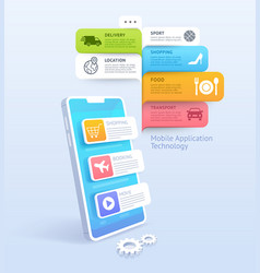 mobile application technology vector image