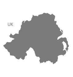 northern ireland map grey vector image