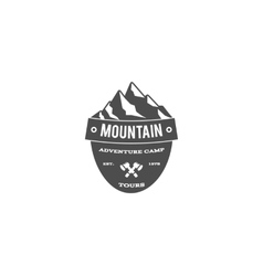 Old style mountain trekking climbing hiking vector
