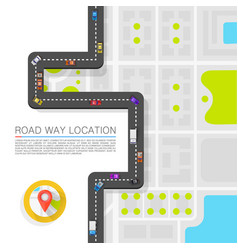 Paved path on the road art vector