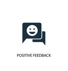 Positive feedback icon simple element vector