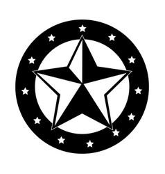 Sherif medal emblem icon vector