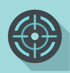 sight icon flat style vector image