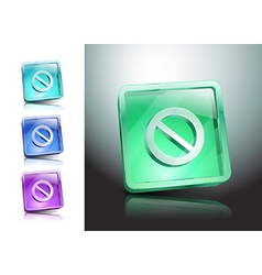 sign no stop ban warning icon vector image