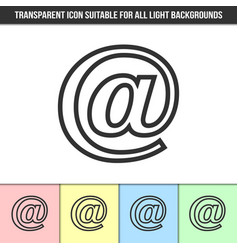 simple outline transparent e-mail icon on vector image