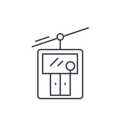 ski elevator line icon concept ski elevator vector image