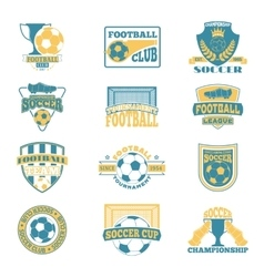 Soccer sign set vector