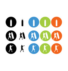 sports equipment flat icons set for web and mobile vector image