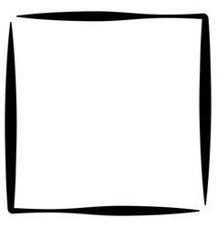 Square format photo frame photo border vector