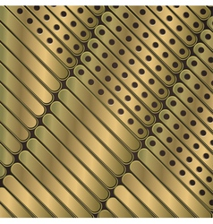 Steampunk background of thin metal plates vector