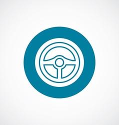 steering wheel icon bold blue circle border vector image