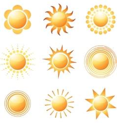 Sun icons vector