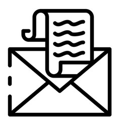 Tax email icon outline style vector