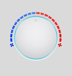 Temperature round button selector vector
