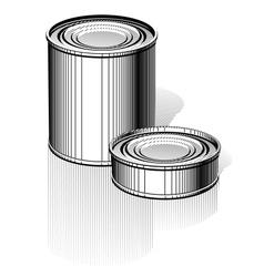 Tincan set vector image