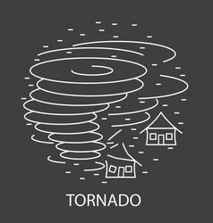 Tornado natural disaster vector