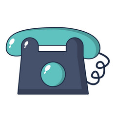 Toy telephone icon cartoon style vector