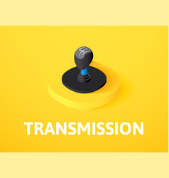 transmission isometric icon isolated on color vector image