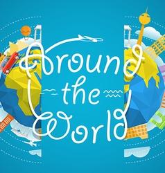 Travel around world concept travel gui vector