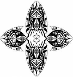 tribal cross vector image vector image