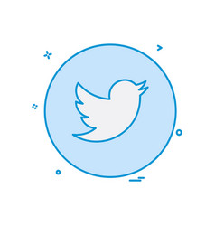 Twitter icon design vector