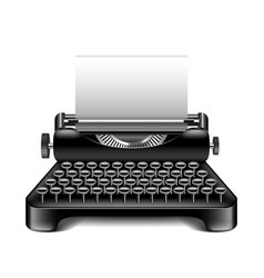 vintage typewriter isolated on white vector image