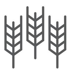 Wheat line icon grain and gluten bread sign vector