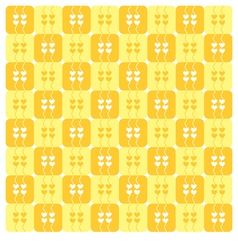 Yellow Hearts Pattern vector image