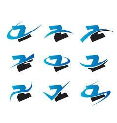 Alphabet Z Logo Icons vector image vector image