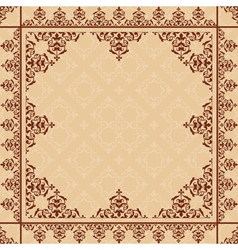 arabic ornament on light beige pattern vector image vector image