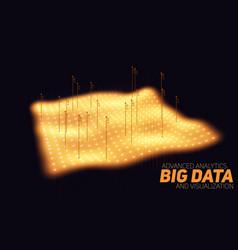 big data orange plot visualization vector image vector image