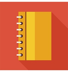 Flat Business Office Notebook with Spiral with vector image vector image