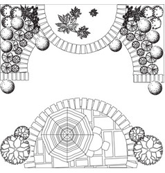 Plan of garden vector image