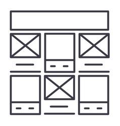 prototype web design line icon sign vector image