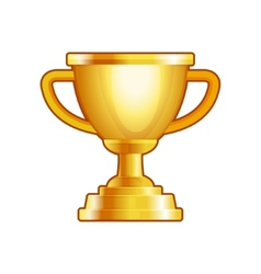 Winner Gold Cup on White Background vector image vector image