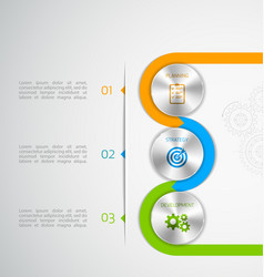 circle modern button infographic vector image
