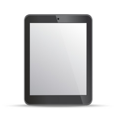 Empty screen tablet template on white background vector image