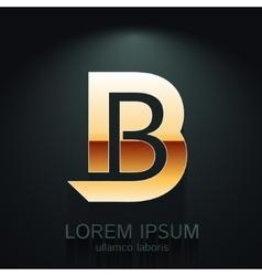 Graphic Elegant Gold Letter B vector image