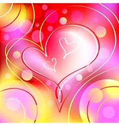 romantic heart background vector image vector image