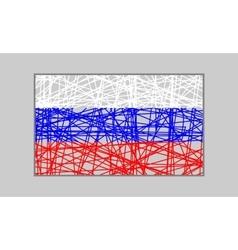 Russia flag design concept vector image vector image