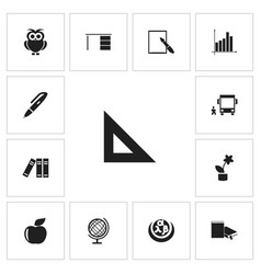 set of 13 editable teach icons includes symbols vector image vector image