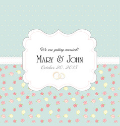 Wedding invitation card with abstract floral vector