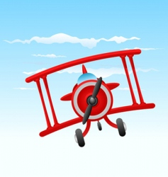 cartoon old plane vector image