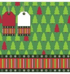 Christmas tree wrapping vector image vector image