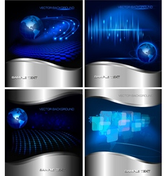 Collection of abstract business backgrounds vector image vector image