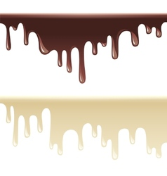 melting chocolate vector image vector image