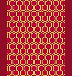 red seamless hexagon pattern style background vector image vector image
