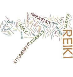 Attunement process of reiki text background word vector