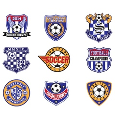 Football Soccer Badges Patches and Emblem vector image