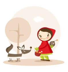 little red riding hood vector image vector image